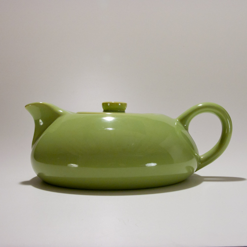 Green modern tea pot