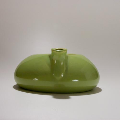 Modern green teapot