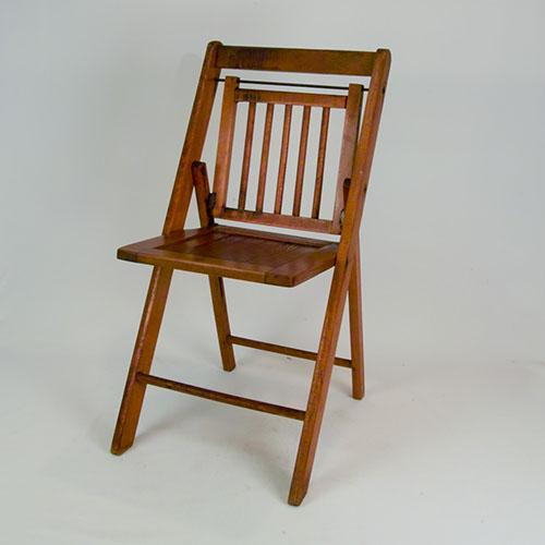 oak folding chair