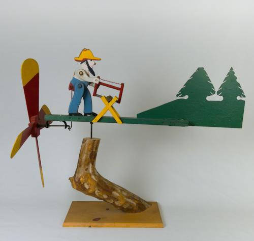 wood cutter whirligig