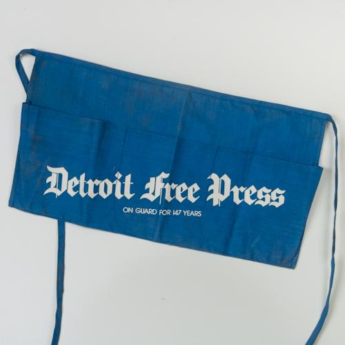 Detroit Free Press Newspaper Apron