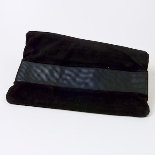 Black clutch bag