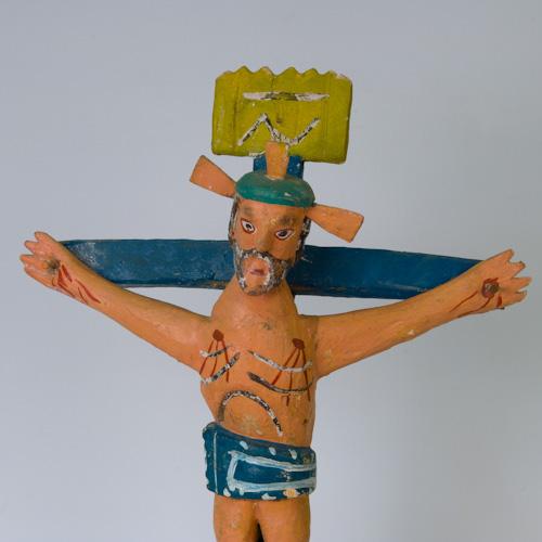 Mexican Religious Folk Art Cross Crucifix