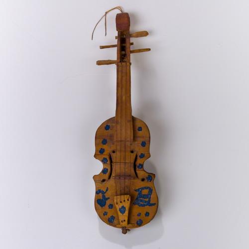 Folk Art Miniature Joe Byrnside Violin Fiddle