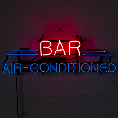 bar air conditioned neon sign