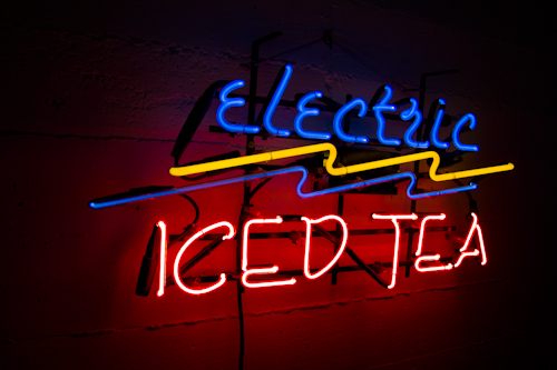 electric ice tea neon sign