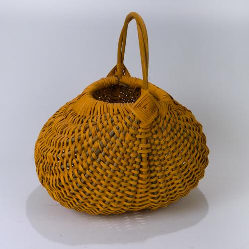 Large Pumpkin Orange Appalachian Basket