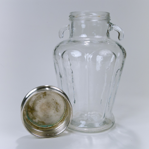 silver lid jar