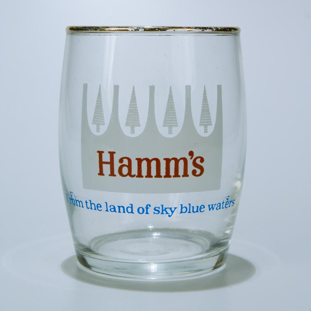 Hamm's beer glass