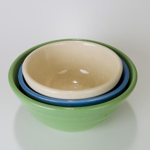 Bauer Pottery Ringware Nesting Bowls