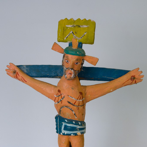 Mexican Religious Folk Art Cross Crucifix