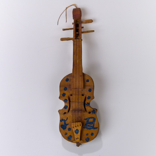 Folk Art Miniature Joe Byrnside Violin Fiddle