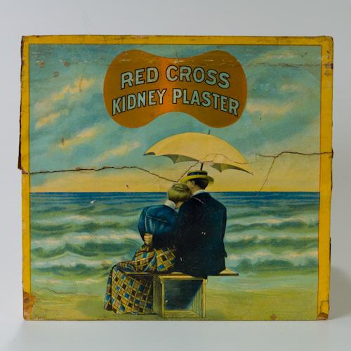Red Cross Kidney Plaster Kit Advertising Sales & Display Box