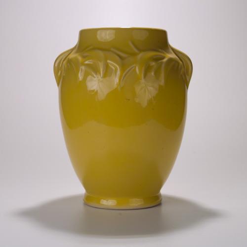 Yellow McCoy Pottery Ceramic Flower Vase