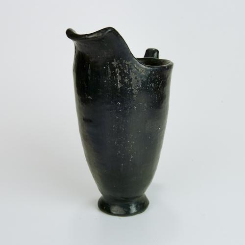 Black Clay New Mexico Pueblo Pitcher Cup