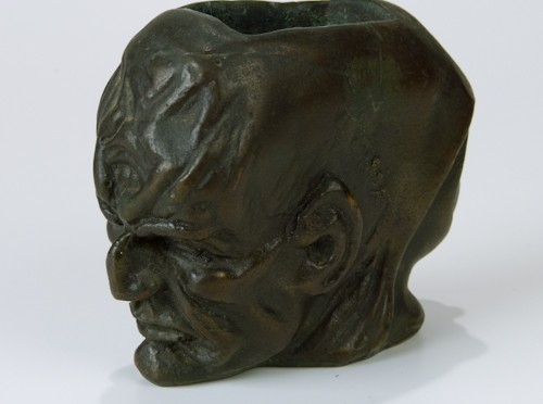 Devil and Nun Two Faces Duality Bronze