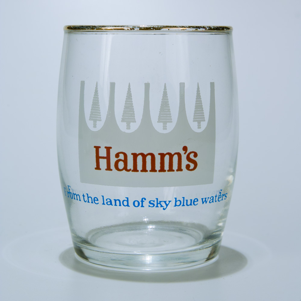 Hamm's beer glass